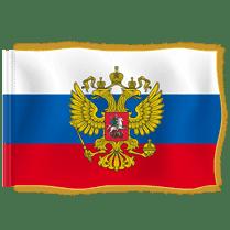 Знамя Штандарт президента РФ с бахромой и гербом