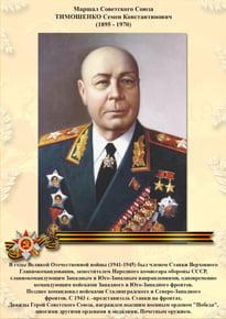 Poster «Timoshenko S. K.»