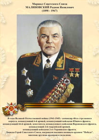 Poster «Malinovskiy R. Ya.»