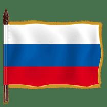 Знамя России с бахромой