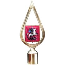 Навершие пластиковое с гербом Москвы, золото