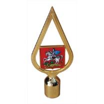 Навершие пластиковое с гербом Московской области, золото