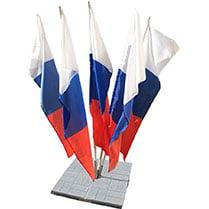 Флажная конструкция Костёр на 5 флагов