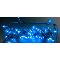 Светодиодная гирлянда 100LED синяя 10м с колпачком IP65