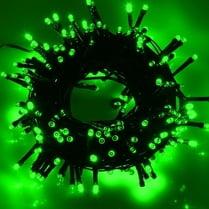 Светодиодная гирлянда 100LED зелёная 10м провод черный