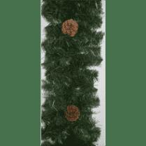 Еловая гирлянда зелёная с шишками d-25 см