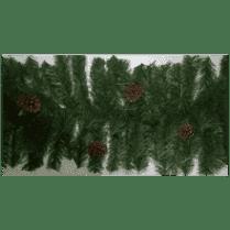 Еловая гирлянда зелёная с шишками d-40см