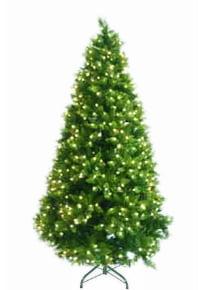 ёлка зелёная искусственная с гирляндой 2,1м