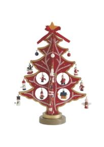 Елка-конструктор деревянная, 30 см, 24 игрушки
