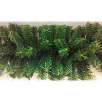 Хвойная гирлянда зелёная с коричневой серединкой d-40