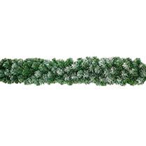 Еловая гирлянда зелёная с заснеженными кончиками d-28 см