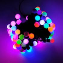 Светодиодная гирлянда «Мультишарики» RGB d-23 мм