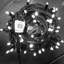 Светодиодная гирлянда с герметичным колпачком 100LED 10м белая