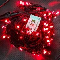 Светодиодная гирлянда с герметичным колпачком 100LED 10м красная
