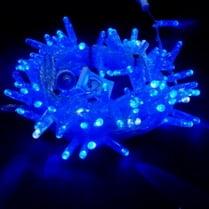Светодиодная гирлянда 100LED синяя мерцающая 10м IP65