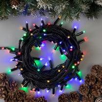 Светодиодная гирлянда 100LED мульти 10м IP44 черный провод