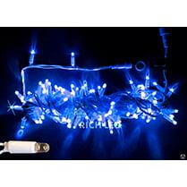Светодиодная гирлянда 100LED синяя с мерцанием IP65