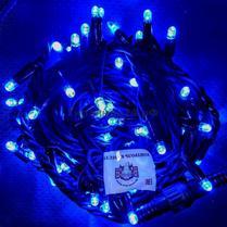 Светодиодная гирлянда с герметичным колпачком 100LED 10м синяя