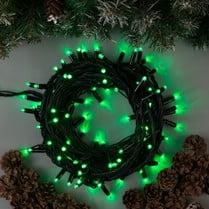 Светодиодная гирлянда 100LED зелёная 10м IP44 черный провод