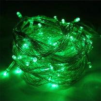 Светодиодная гирлянда 100LED зелёная 10м IP44 прозрачный провод