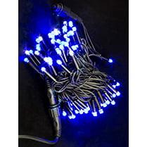 Светодиодная гирлянда с мерцанием синяя 10 м IP65 100LED