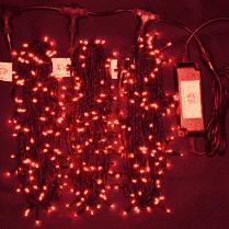 Светодиодная гирлянда Клип Лайт 3 луча по 20м красная 600LED 24V