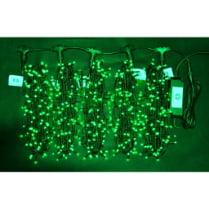 Светодиодная гирлянда Клип Лайт 5 лучей по 10м зелёная 500LED 24V
