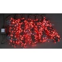 Светодиодная гирлянда Клип Лайт 5 лучей по 10м красная 500LED 24V