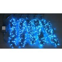 Светодиодная гирлянда Клип Лайт 5 лучей по 10м синяя 500LED 24V