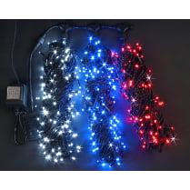 Светодиодная гирлянда Клип Лайт Триколор 3 луча по 20м 24V