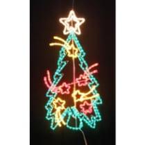 Светодиодная фигура «Праздничная ель с кометами LED»