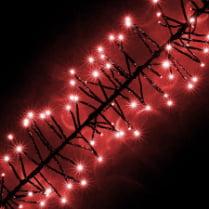 LED-гирлянда «Кластер» красная, 200 светодиодов, 2м, с контроллером