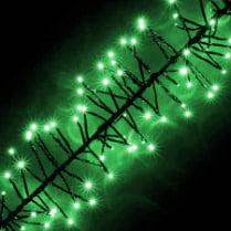 LED-гирлянда «Кластер» зелёная, 200 светодиодов, 2м, с контроллером