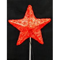 Макушка для ёлки красная «Звезда 5-и конечная»