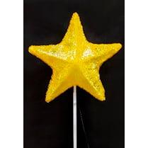 Макушка для ёлки желтая «Звезда 5-и конечная»