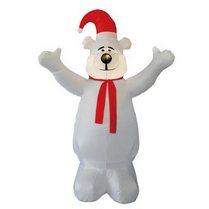 Надувная фигура «Белый медведь Праздничный», 1,8м