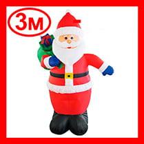 Надувная фигура «Дед Мороз с мешком», 3 м