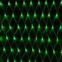 Светодиодная сетка RICH LED зелёная с контроллером 2х1.5м, прозрачный провод