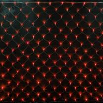Светодиодная сетка RICH LED красная с контроллером 2х1.5м, прозрачный провод