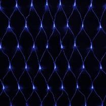 Светодиодная сетка RICH LED разноцветная с контроллером 2х1.5м, прозрачный провод