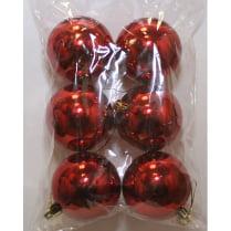 Шары новогодние красные d-5 см глянец