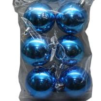 Шары новогодние синие d-5 см глянец