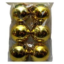 Шары новогодние золотые d-6 см глянец