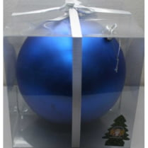 Шар новогодний d-15 см, цвет синий, матовый