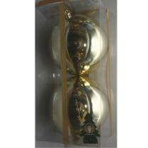 Шары новогодние d-10 см, цвет золото, глянец