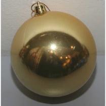 Шар новогодний d-15 см, цвет золото, глянец