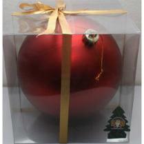 Шар новогодний d-20 см, цвет красный, глянец