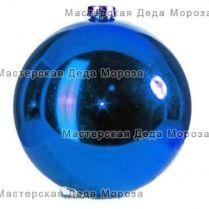 Шар новогодний d-20 см, цвет синий, глянец