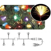 LED гирлянда «Кисточки» фиброоптическая разноцветная переливающаяся 100LED