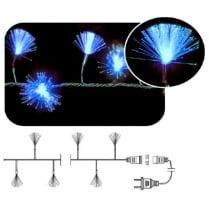 LED гирлянда «Кисточки» фиброоптическая синяя переливающаяся 100LED, с контроллером